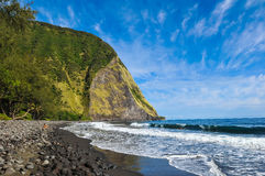 Manhã na praia do waimanu fotos de stock royalty free