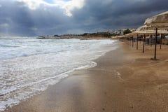 Manhã na praia II do hotel Imagem de Stock
