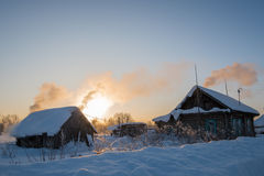 Manhã na vila Foto de Stock