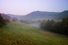 Manhã nas montanhas Foto de Stock Royalty Free