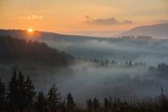 Manhã nas montanhas Foto de Stock
