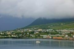 Manhã nebulosa em St. Kitts Imagem de Stock Royalty Free