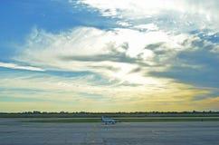Manhã no aeroporto Fotografia de Stock
