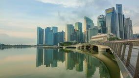 Manhã no centro de Singapura Uso editorial somente Lapso de tempo vídeos de arquivo