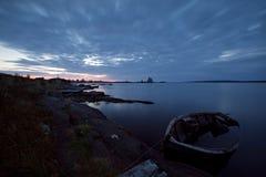 Manhã no mar branco Imagem de Stock Royalty Free