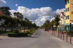 Manhã no passeio em Binz, ilha de Ruegen, Alemanha Imagem de Stock