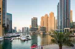 Manhã no porto de Dubai Fotografia de Stock Royalty Free