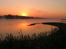 Manhã no rio. Fotos de Stock Royalty Free