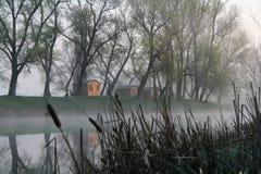 Manhã no rio imagens de stock