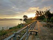 Manhã o Mekong River Fotografia de Stock