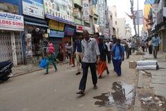 Manhã ocupada em Bangalore Imagem de Stock