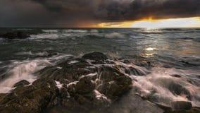 Manhã pelo mar Foto de Stock Royalty Free