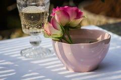 Manhã romântica bonita para dois Imagem de Stock Royalty Free