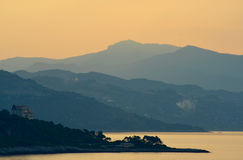 Manhã sobre a costa mediterrânea Foto de Stock Royalty Free
