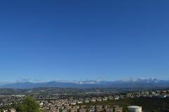 Manhã sobre montanhas e vale de San Gabrial Foto de Stock Royalty Free