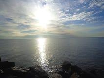 Manhã sobre o mar Foto de Stock Royalty Free