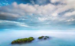 Manhã tranquilo na praia de Wategos Imagens de Stock
