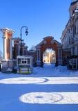 Manh? ensolarada gelado em Alexander Nevsky Monastery foto de stock