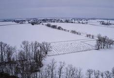 Manh? nevado na terra Amish fotografia de stock royalty free