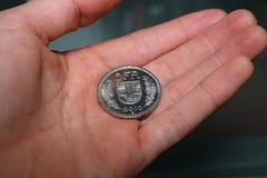 Manhanden fem franc stänger sig upp Royaltyfria Bilder