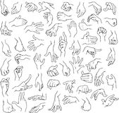 Manhandpacke Lineart royaltyfri illustrationer