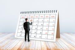 Manhandstil i kalender Royaltyfri Foto