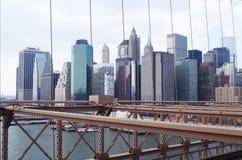 Manhanttan摩天大楼,纽约 库存照片