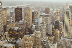 Manhatann District, New York City Skyscrapers Royalty Free Stock Image