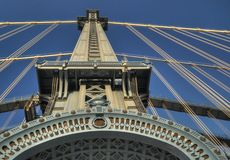 Manhattan överbryggar står hög Royaltyfri Foto