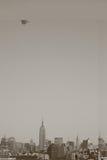 manhattan środek miasta przez sterowem zdjęcia royalty free