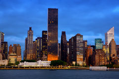 Manhattan środka miasta architektura Zdjęcia Royalty Free