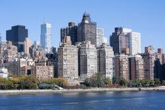 Manhattan środka miasta linia horyzontu przy wschodem słońca Miasto Nowy Jork Obraz Royalty Free