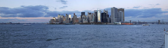 Manhattan 01 niski przegląd fotografia royalty free