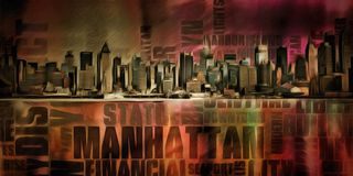 manhattan Obraz Royalty Free