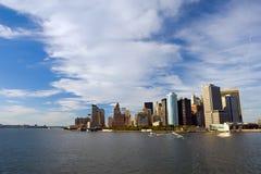 Manhattan. View on Manhattan from Hudson River Stock Image