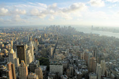 Manhattan. Landscape view of Manhattan in the afternoon from Empire State Building Stock Photography