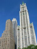 Manhattan. Lower Manhattan architecture including the Woolworth Building stock image