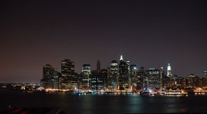 Manhattan. This is a shot of Manhattan viewed from the Brooklyn side Royalty Free Stock Photo
