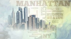 manhattan illustration libre de droits