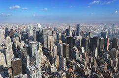 Manhattan from above Stock Photos
