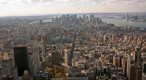 Manhattan aereo del sud fotografie stock