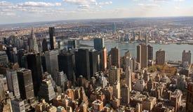 Manhattan aereo orientale fotografia stock