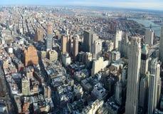 Manhattan aerial image. Aerial image of Manhattan in New York, USA stock image