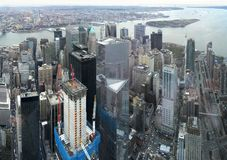 Manhattan aerial image. Aerial image of Manhattan in New York, USA royalty free stock image