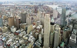 Manhattan aerial image. Aerial image of Manhattan in New York, USA stock photography