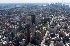 Manhattan Aerial. Overview of New York City Royalty Free Stock Images