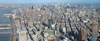 Manhattan aerial panorama image Royalty Free Stock Images