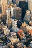 Manhattan aerial skyline Stock Image
