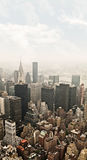Manhattan Aerial View Royalty Free Stock Image