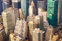 Manhattan aerial view Royalty Free Stock Photography